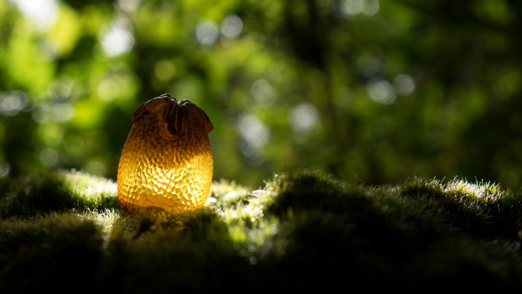 Toy photography of the Alien egg in a field