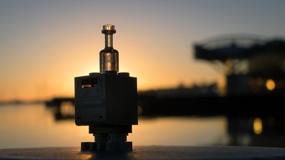 """""""sunrise vs. sunset"""" : LEGO Gonk at sunrise"""