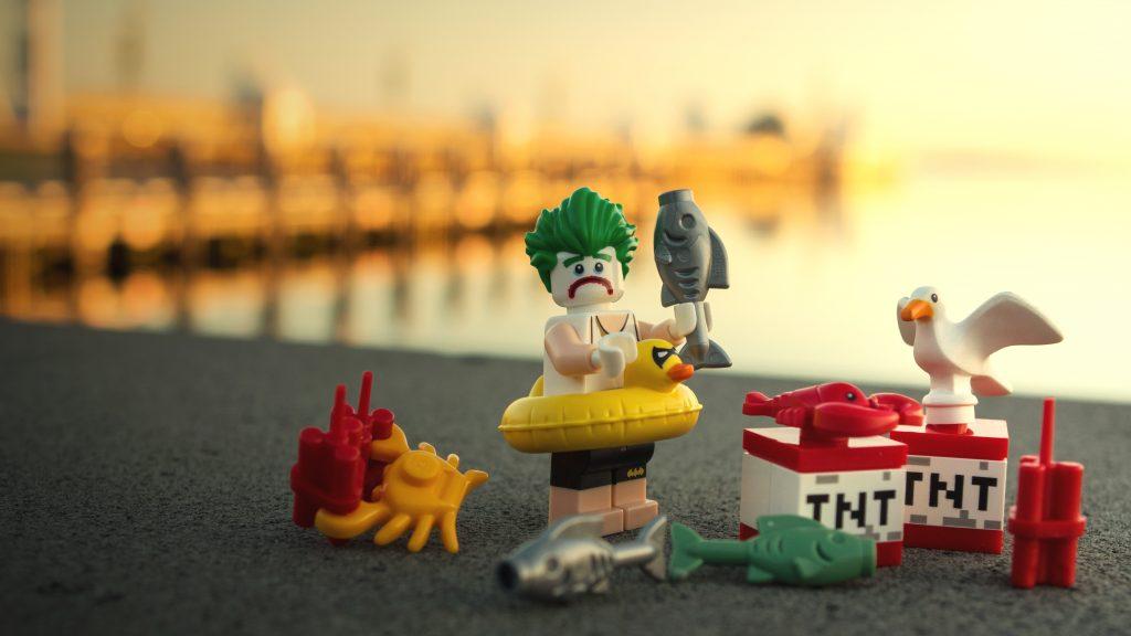 """""""sunrise vs. sunset"""" : LEGO Joker with bombs"""