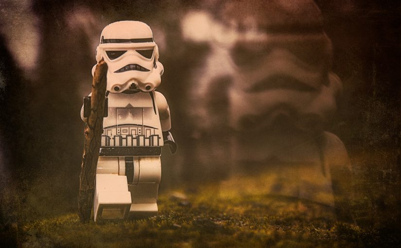 Stormtrooper hiking