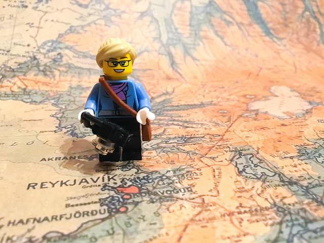 LEGO on a map of Iceland