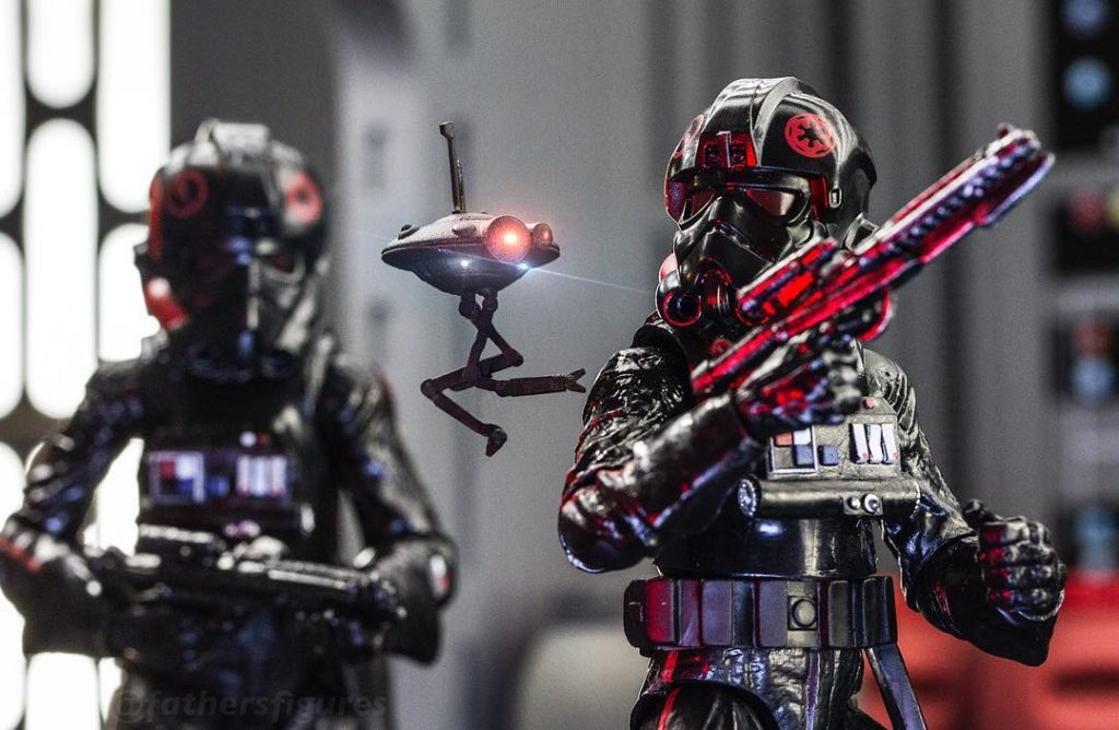 Star Wars Black Series Inferno Squad 3-d printed droid by David Valdez Father's Figures