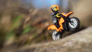 LEGO Ninjago Minifigure dirt bike by Shelly Corbett