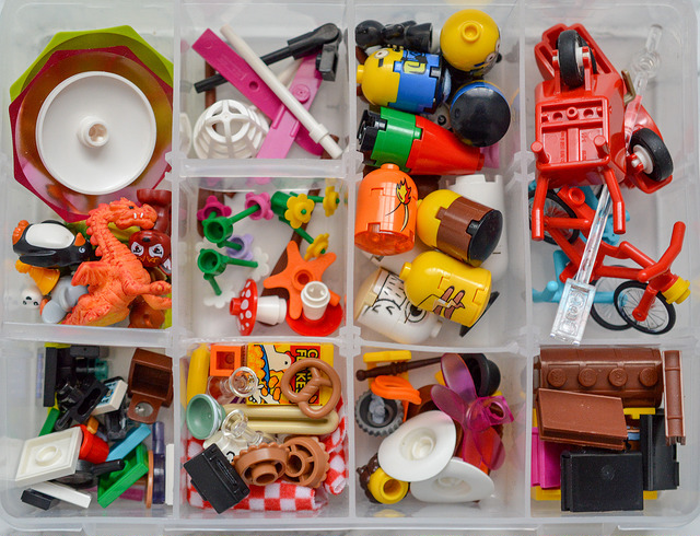LEGO accessories in a box