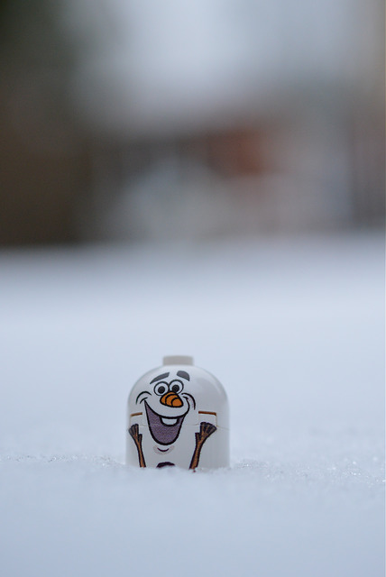 LEGO Olaf in the snow