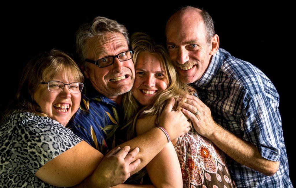 My wife, Paul Howard, Liz Kaeterhenty and Ron Clifford at a meet-up in Red Deer Alberta