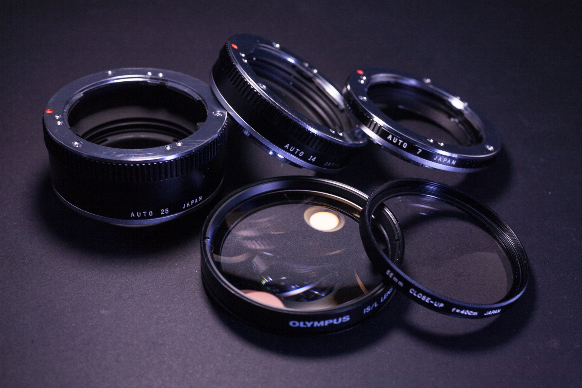 Extension tubes and close-up filters