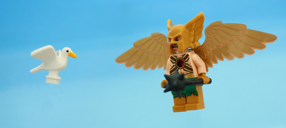 LEGO Hawkman and seagull by James Garcia