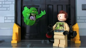 LEGO Ghostbuster and Slimer by James Garcia