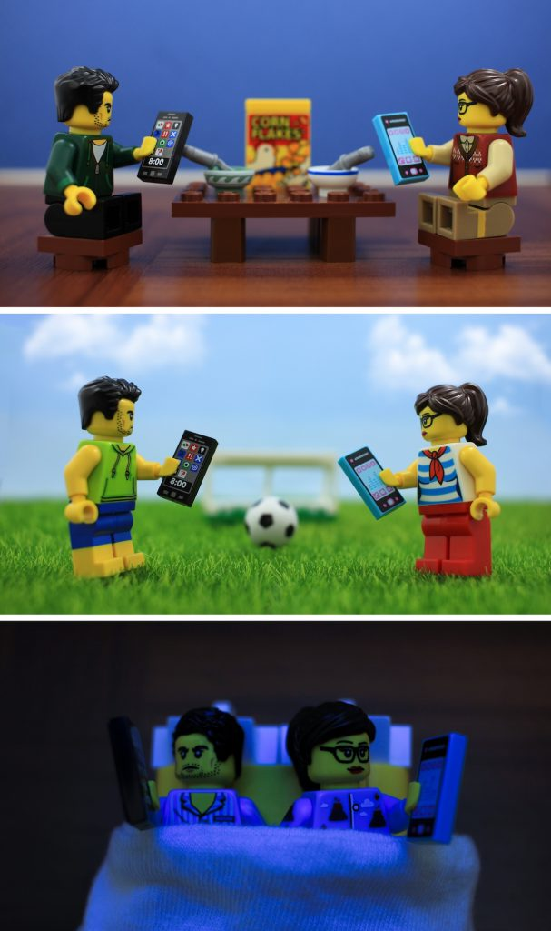 LEGO minifigures together by James Garcia