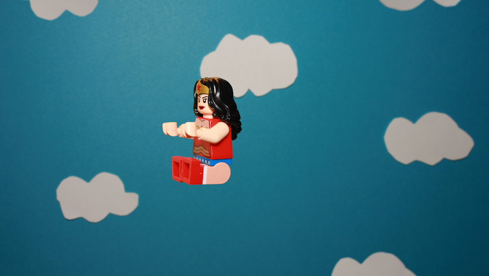LEGO Wonder Woman in her Invisible Jet by James Garcia