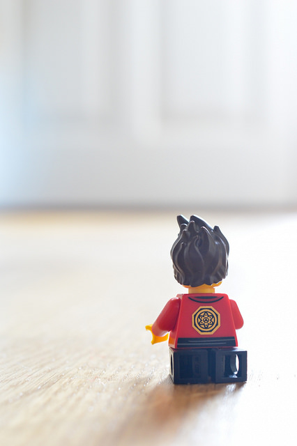 LEGO figure in seiza