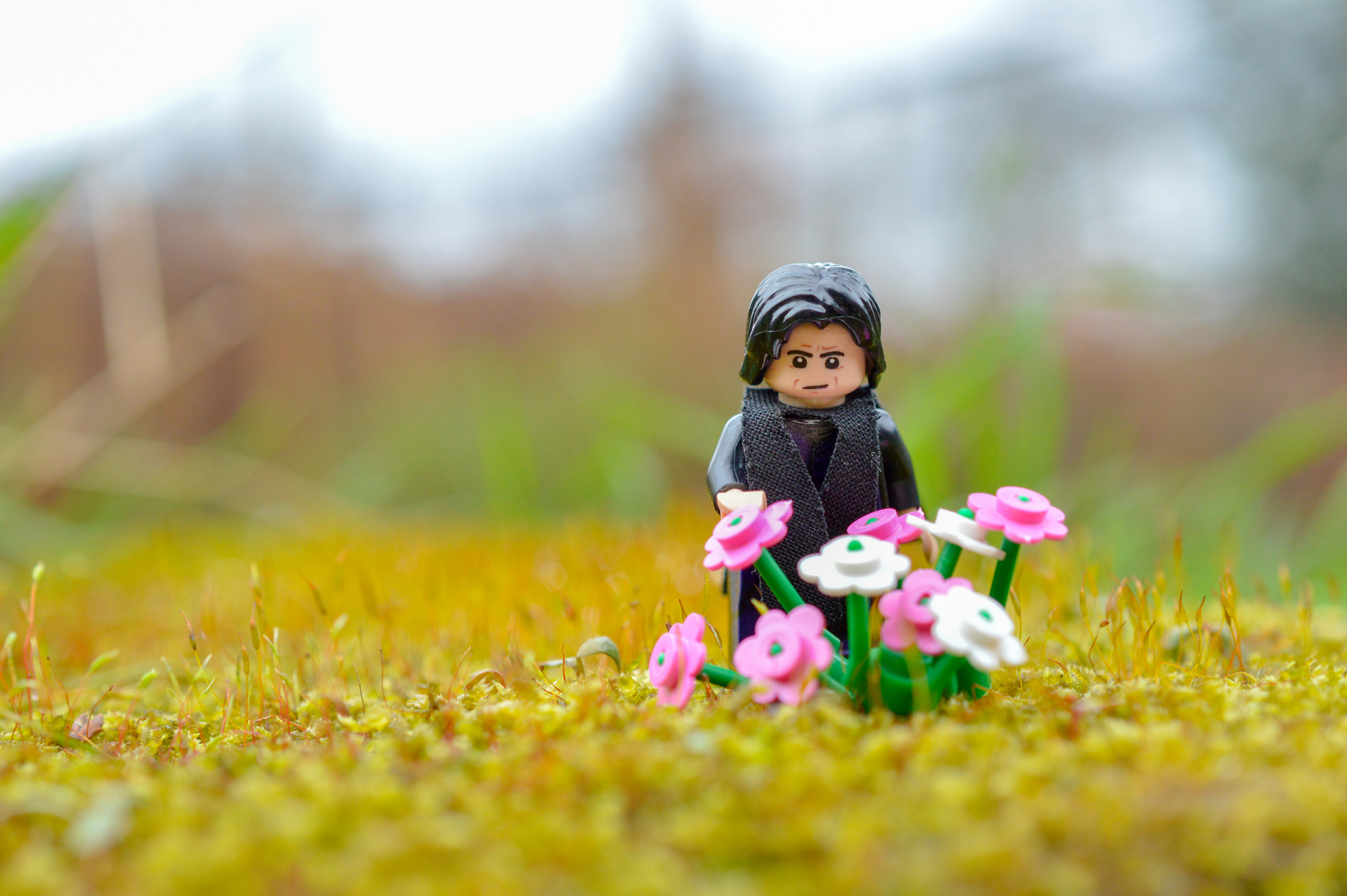 LEGO Harry Potter Severus Snape minifigure and flowers by Lizzi S