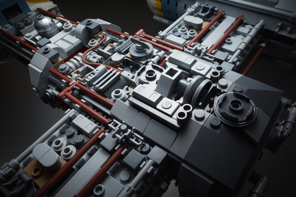 Detail of greeble of LEGO UCS Y-Wing by Avanaut