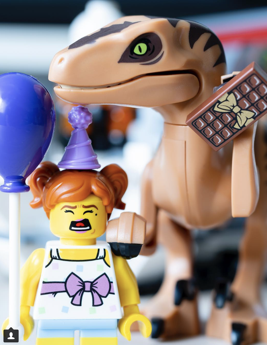 Winner: @minifigureshoarder - Bringing a Velociraptor to a kids birthday party might not be the best idea