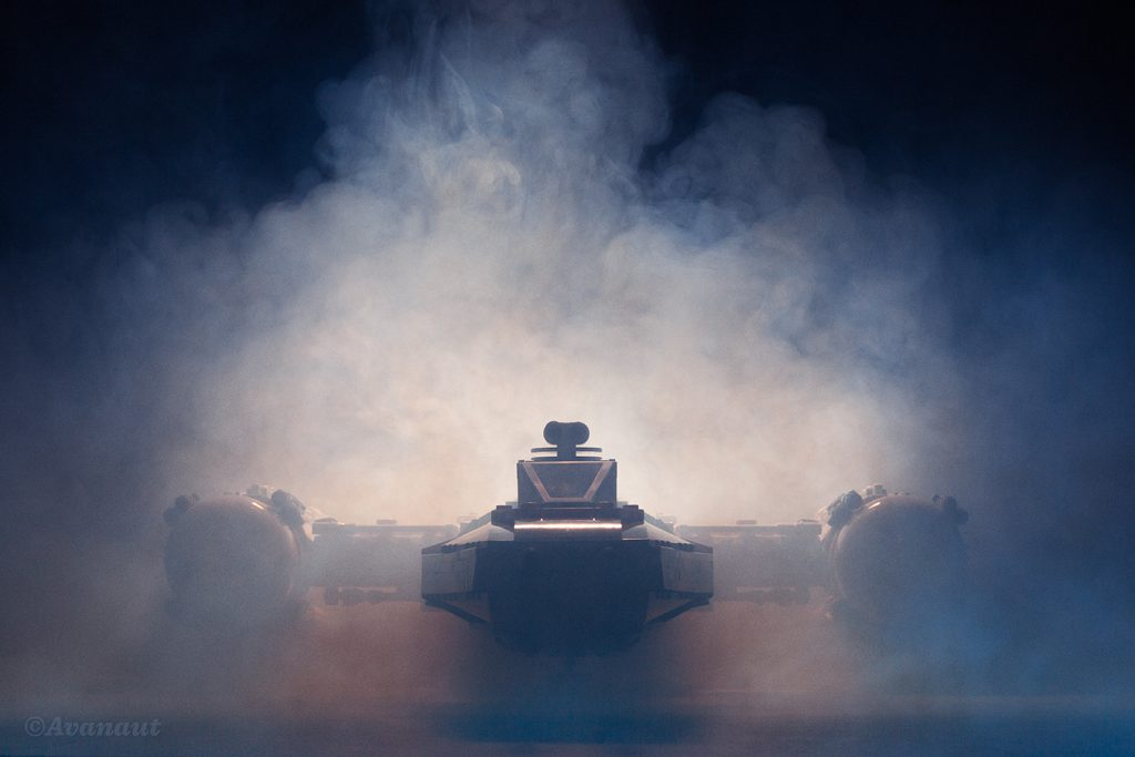 LEGO UCS Y-Wing engulfed in smoke by Avanaut
