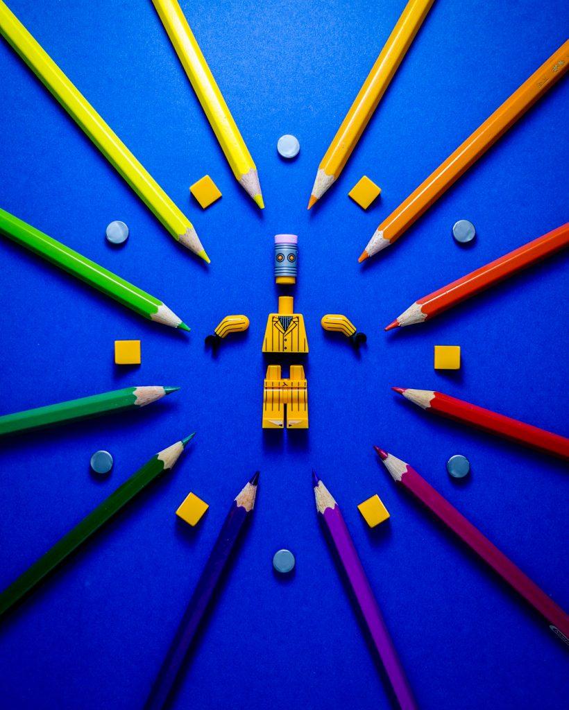 LEGO Eraser Minifigure Stationary Man by Blake Powell BlvdBricks