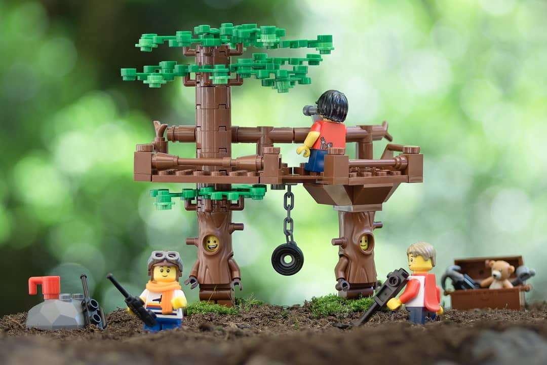 LEGO treehouse nostalgia by fourbrickstall