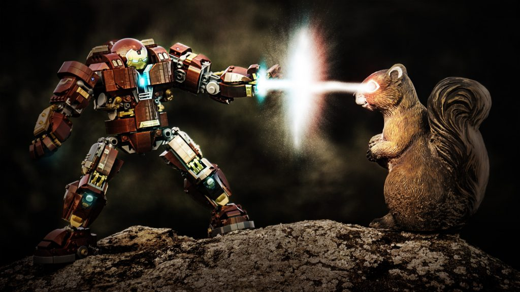 Hulkbuster vs a squirrel