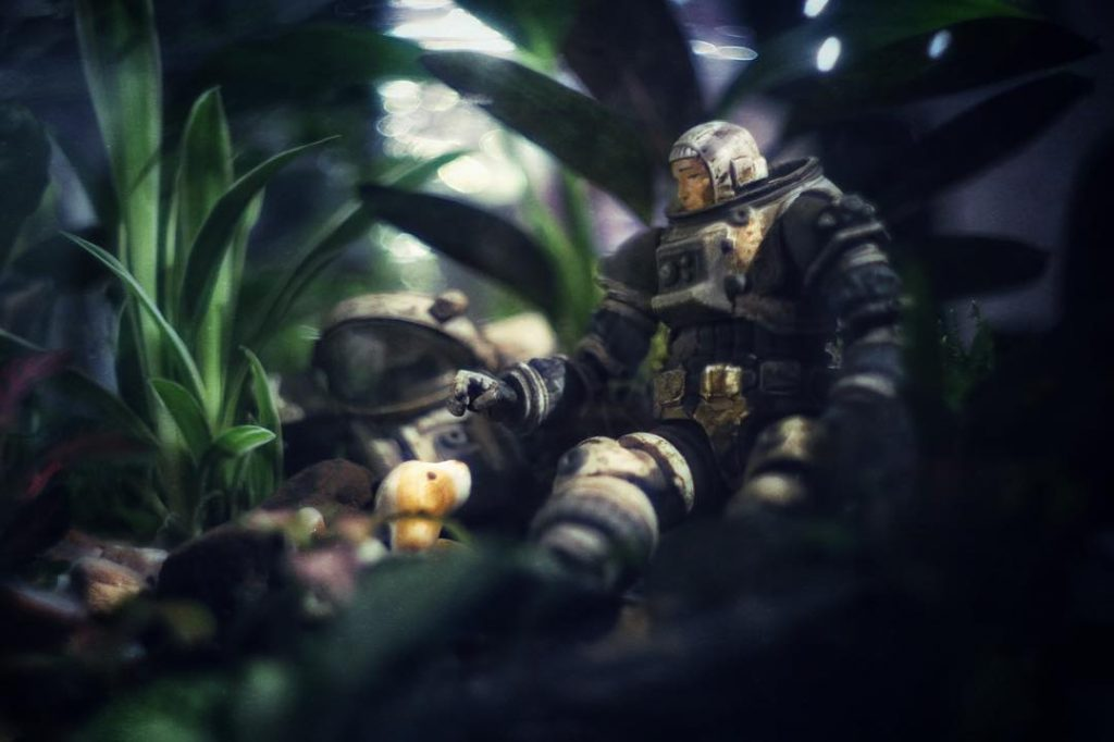 Astronaut toy photography by Janan Lee spideygoeshygge