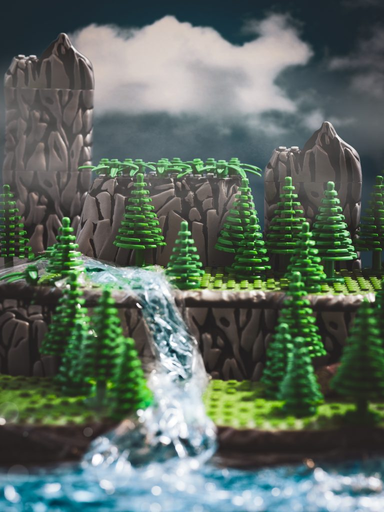 Landscape LEGO Mega Bloks photography by James Garcia