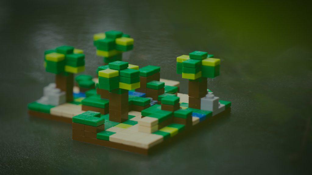 LEGO Minecraft Landscape Photography by Kristina Alexanderson