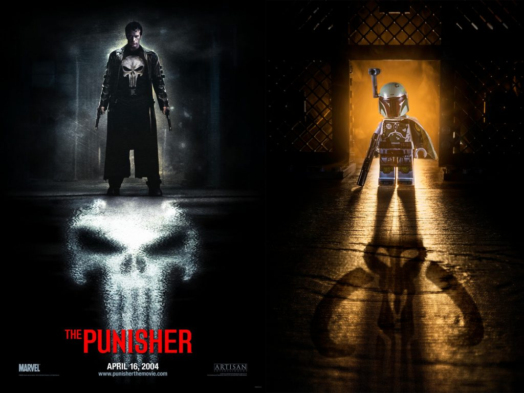 Punisher Movie Poster that inspired a Boba Fett image.