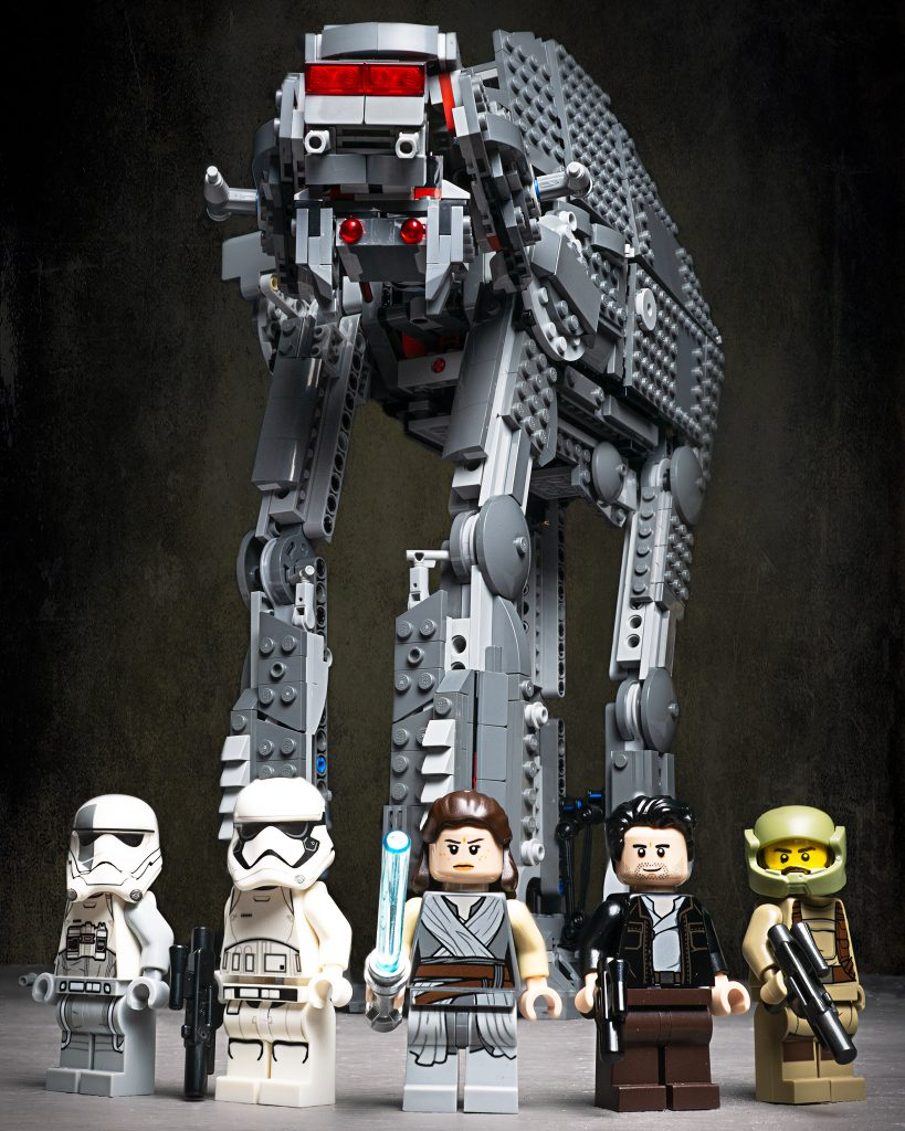 walker and minifigs