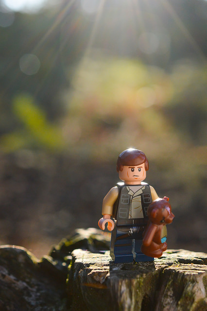 LEGO Han Solo with teddy bear