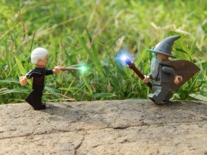 LEGO Grindelwald verses Gandalf by Demarcation Media