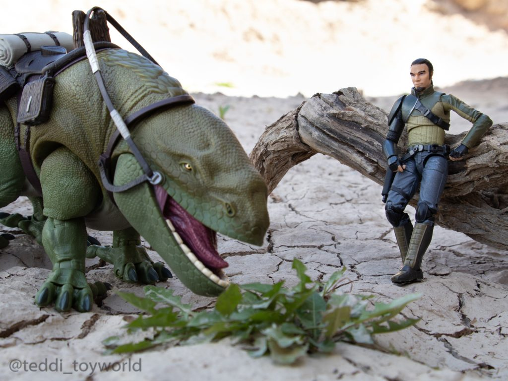 Kanan and the dewback by @teddi_toyworld