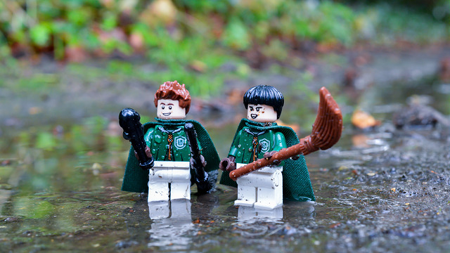 LEGO Slytherin Quidditch players