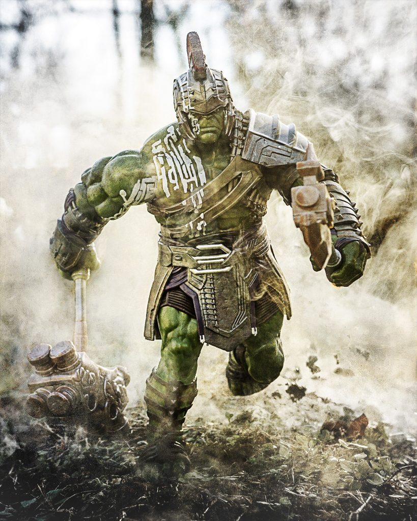 Hulk running in search of things to smash.