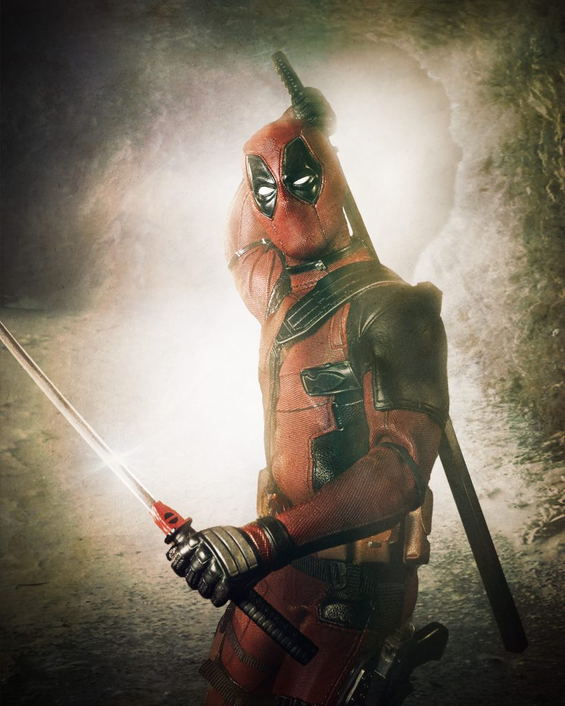 Deadpool in a cave