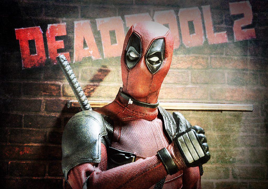 Deadpool and the cardboard backdrop