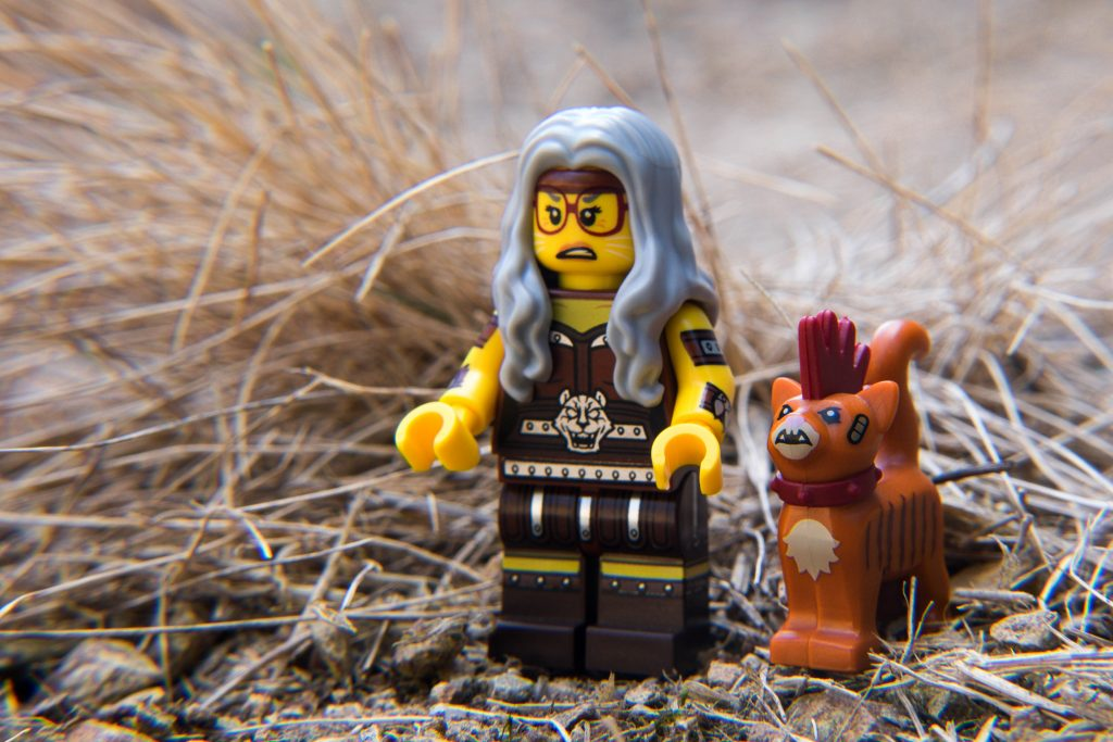 The LEGO Movie 2 Minifigure Review: Sherry Scratching Post & Scarfield