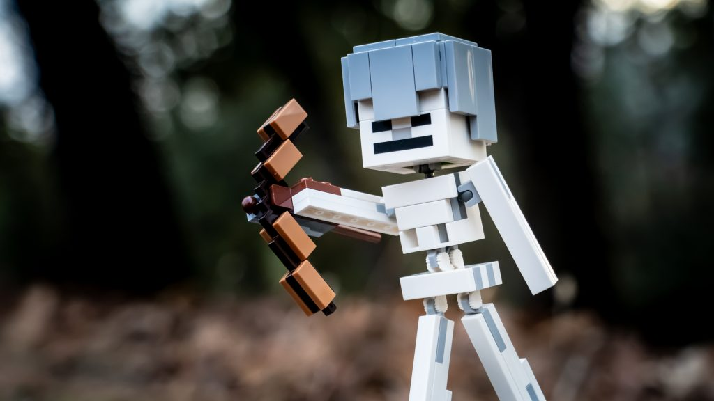 LEGO Minecraft BigFig Skeleton in the woods by @teddi_toyworld