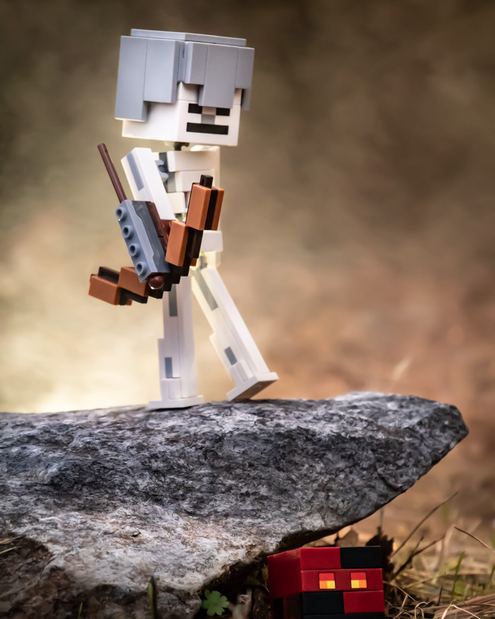 LEGO Minecraft BigFig Skeleton with magma cube by @teddi_toyworld