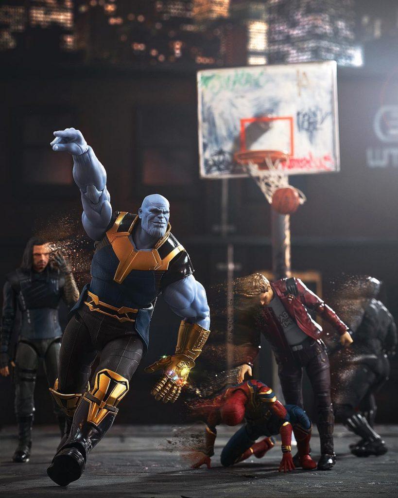 Thanos End Game Avengers Basketball photo by Jax Navarro PlasticAction