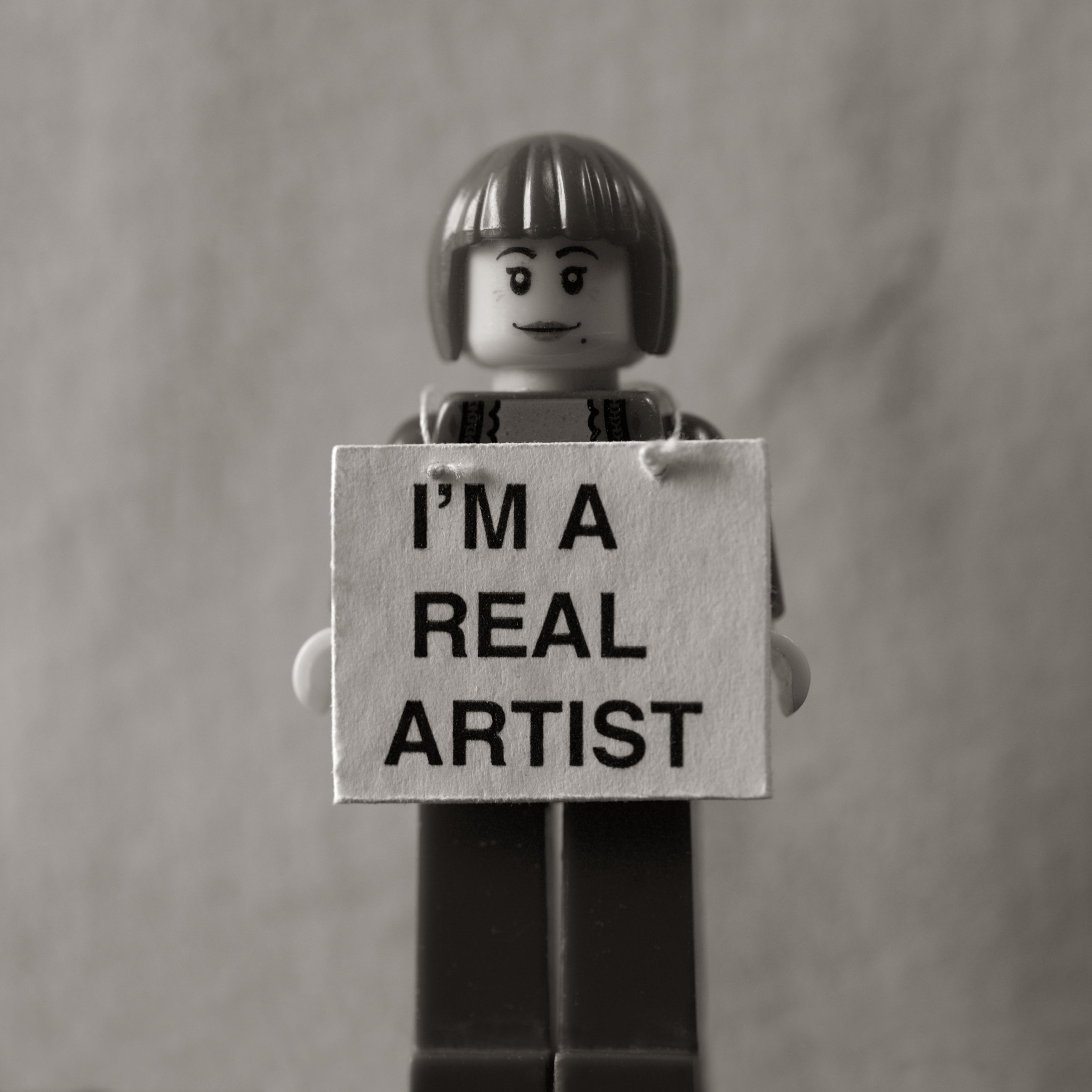 photo challenge, Keith Arnatt, I'm A Real Artist