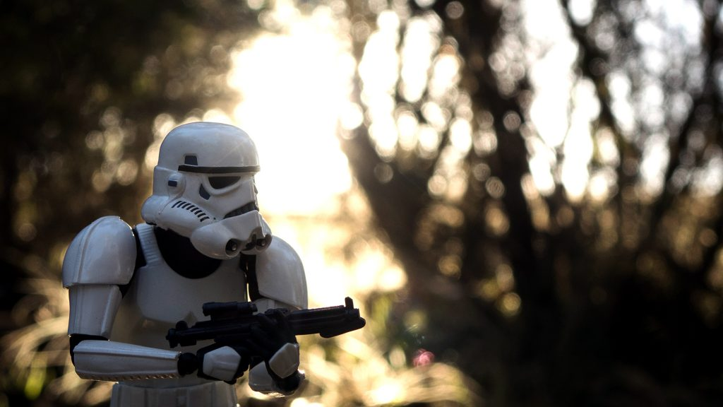 Toy photography of a Stormtrooper