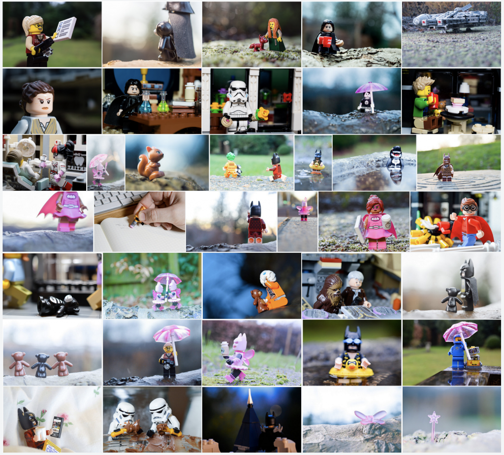 Layout of 39 toy photos