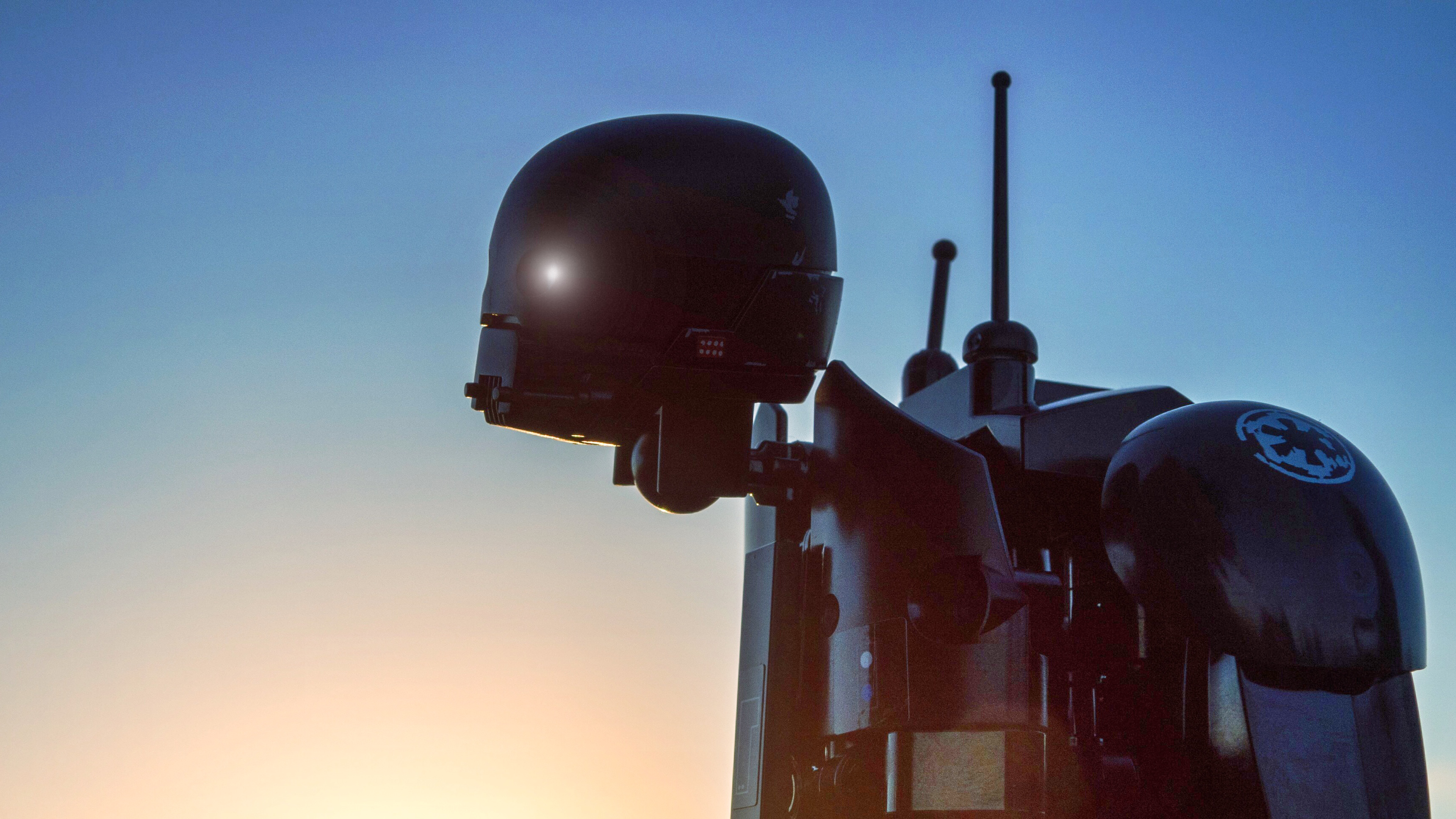 LEGO K-2SO at sunset