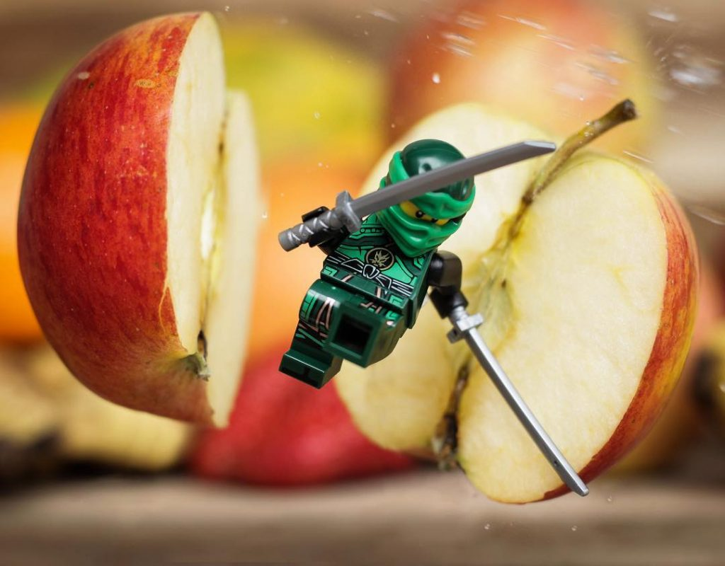 "The Ninjago Movie Minifigures Winner: ""Fruit Ninja"" shot by @shundeez_official"