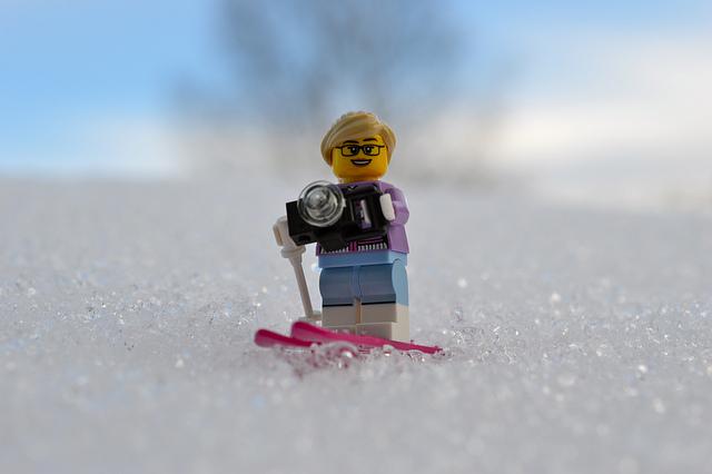 LEGO figure skiing in Sweden