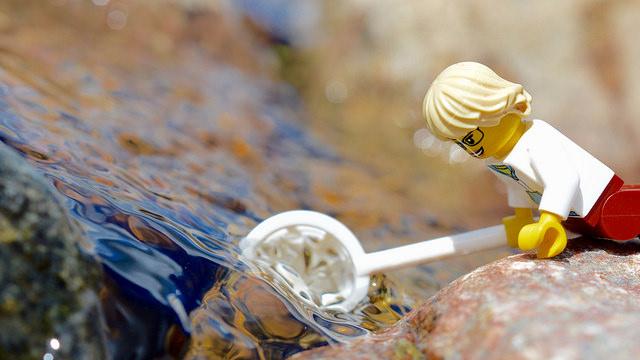 LEGO figure fishing