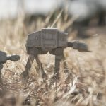 two at-at walk through the tall grass taken with a Lensbaby by Shelly Corbett