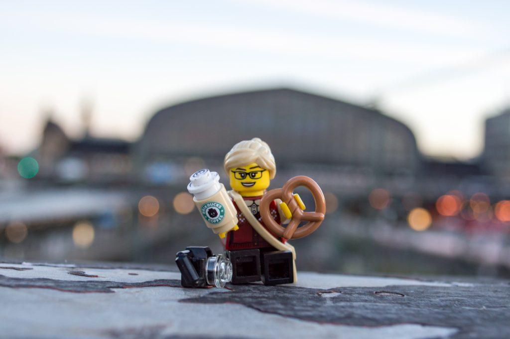 LEGO figure at Hamburg station