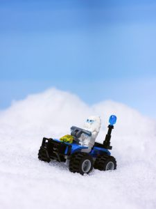 Lego yeti in the snow by James Garcia
