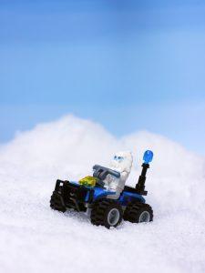 Lego yeti in the snow by James Garcia